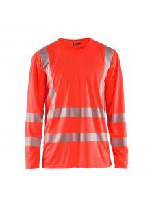 UV T-Shirt High Vis Long Sleeve 3385 High Vis Rood - Blåkläder