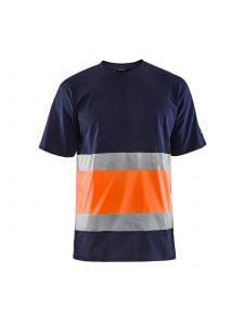 High Vis T-shirt 3387 Marineblauw/Oranje - Blåkläder