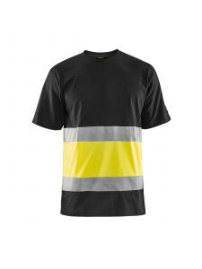 High Vis T-shirt 3387 Zwart/High Vis Geel - Blåkläder