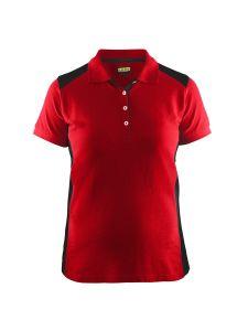 Blåkläder 3390-1050 Women's Pique Polo Shirt - Red/Black