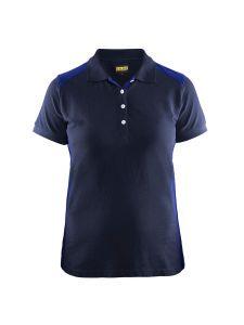 Blåkläder 3390-1050 Women's Pique Polo Shirt - Navy/Cornflower Blue
