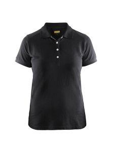 Blåkläder 3390-1050 Women's Pique Polo Shirt - Black