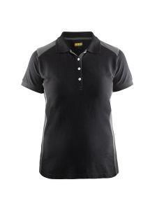 Blåkläder 3390-1050 Women's Pique Polo Shirt - Black/Grey