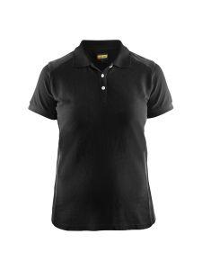 Blåkläder 3390-1050 Women's Pique Polo Shirt - Black/Dark Grey