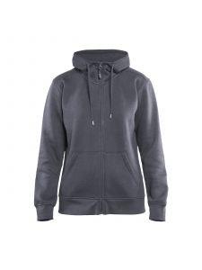 Ladies Hoodie With Full Zipper 3395 Grijs - Blåkläder