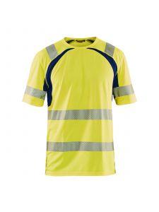 UV T-shirt High Vis 3397 High Vis Geel/Marineblauw - Blåkläder