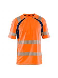 UV T-shirt High Vis 3397 High Vis Oranje/Marineblauw - Blåkläder