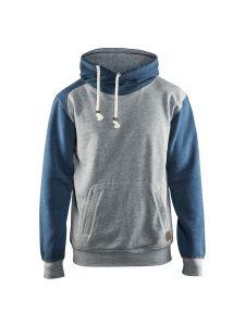 Blåkläder 3399-1157 Hooded Sweatshirt - Grey Melange/Blue