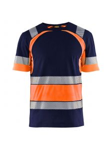High Vis T-shirt 3421 Marineblauw/Oranje - Blåkläder