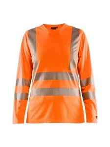 Ladies High Vis T-shirt Long Sleeve 3485 High Vis Oranje - Blåkläder