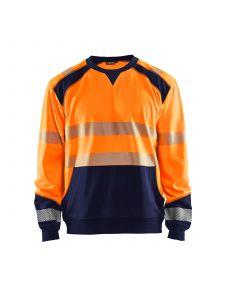 High Vis Sweatshirt 3541 High Vis Oranje/Marineblauw - Blåkläder