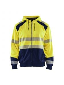 High Vis Hooded Sweater 3546 High Vis Geel/Marineblauw - Blåkläder