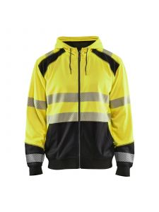 High Vis Hooded Sweater 3546 High Vis Geel/Zwart - Blåkläder