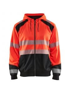 High Vis Hooded Sweater 3546 High Vis Rood/Zwart- Blåkläder