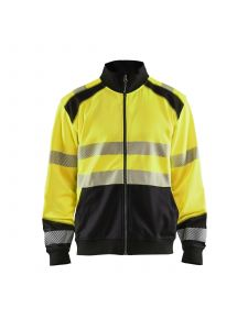 High Vis Sweatshirt With Full Zip 3558 High Vis Geel/Zwart - Blåkläder