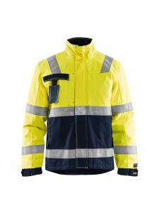 Multinorm Winter Jacket 4068 High Vis Geel/Marineblauw - Blåkläder