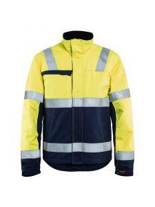 Multinorm Winter Jacket 4069 High Vis Geel/Marineblauw - Blåkläder