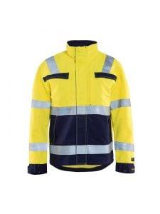 Multinorm Jacket 4087 High Vis Geel/Marineblauw - Blåkläder