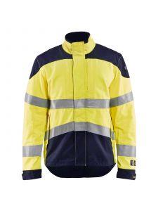 Multinorm Jacket Inherent 4089 High Vis Geel/Marine - Blåkläder