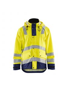 Rain Jacket Level 2 4302 High Vis Geel/Marine - Blåkläder