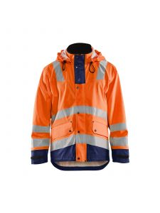 Rain Jacket Level 2 4302 High Vis Oranje/Marine - Blåkläder