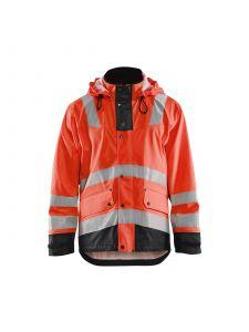 Rain Jacket Level 2 4302 High Vis Rood/Zwart - Blåkläder