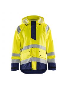 Rain Jacket Level 1 4323 High Vis Geel/Marineblauw - Blåkläder