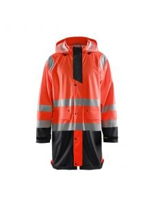 Rain Jacket High Vis Level 1 4324 High Vis Rood/Zwart - Blåkläder