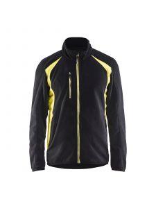 Fleece Jacket 4730 Zwart/High Vis Geel - Blåkläder