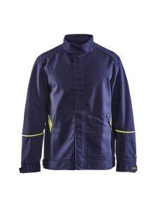 Welding Jacket 4801 Marine/High Vis Geel - Blåkläder