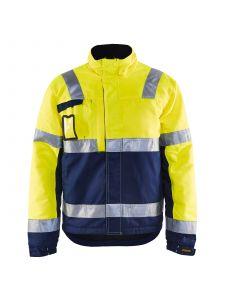 Winter Jacket 4862 High Vis Geel/Marineblauw - Blåkläder
