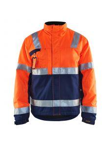 Winter Jacket 4862 High Vis Oranje/Marineblauw - Blåkläder