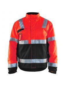 Winter Jacket 4862 High Vis Rood/Zwart - Blåkläder