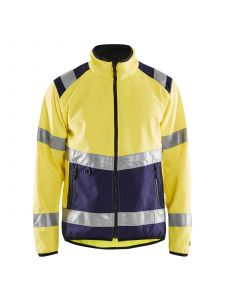 High Vis Softshell Jacket 4877 High Vis Geel/Marineblauw - Blåkläder