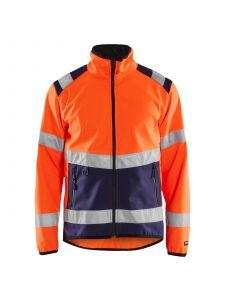 High Vis Softshell Jacket 4877 High Vis Oranje/Marineblauw - Blåkläder