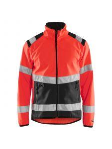 High Vis Softshell Jacket 4877 High Vis Rood/Zwart - Blåkläder