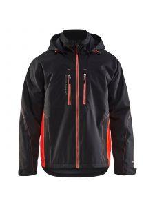 Lightweight Winter Jacket 4890 Zwart/High Vis Rood - Blåkläder