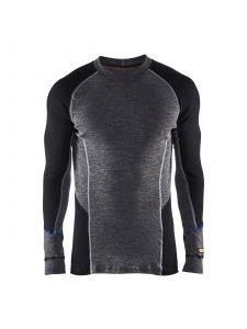 Underwear Top Warm 100% Merino 4897 Zwart - Blåkläder