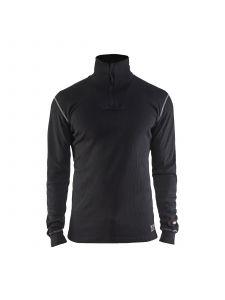 Flame Retardant Underwear Top Half Zip 4898 Zwart - Blåkläder
