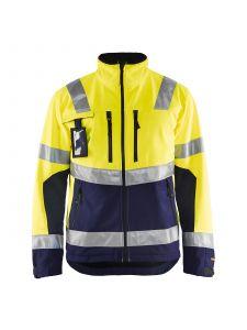 High Vis Softshell Jacket 4900 High Vis Geel/Marine - Blåkläder