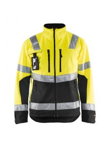 High Vis Softshell Jacket 4900 High Vis Geel/Zwart - Blåkläder