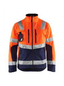 High Vis Softshell Jacket 4900 High Vis Oranje/Marine - Blåkläder