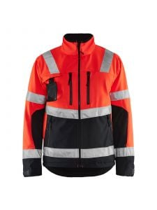 High Vis Softshell Jacket 4900 High Vis Rood/Zwart - Blåkläder