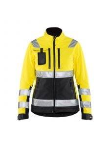 Ladies High Vis Softshell Jacket 4902 High Vis Geel/Zwart - Blåkläder