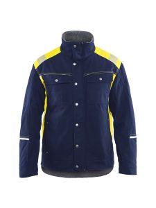 Blåkläder 4915-1370 Winter Jacket - Navy/High Vis Yellow