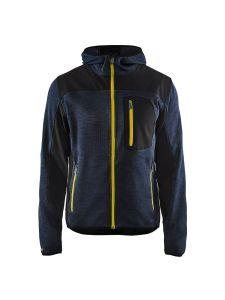 Blåkläder 4930-2117 Knitted Jacket - Dark Navy/Yellow