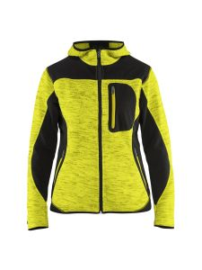 Blåkläder 4931-2117 Women's Knitted Jacket with Softshell - High Vis Yellow