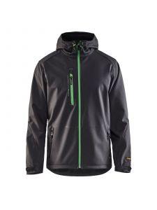 Softshell Jack 4949 Donkergrijs/Groen - Blåkläder