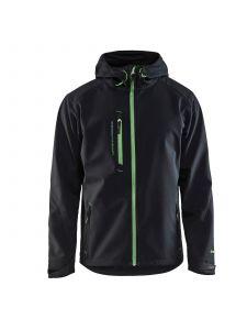 Softshell Jack 4949 Zwart/Groen - Blåkläder