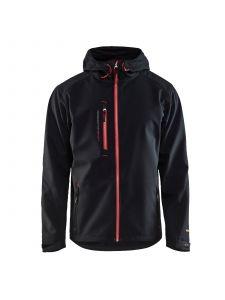 Softshell Jack 4949 Zwart/Rood - Blåkläder
